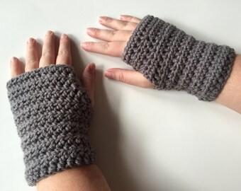 Crochet Wrist Warmers, Fingerless Gloves, Fingerless Mittens, Handmade Gloves, Texting Gloves, Arm Warmers, Winter  Accessory