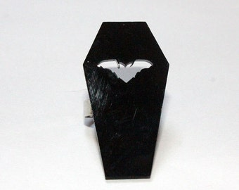 Batty Coffin Ring