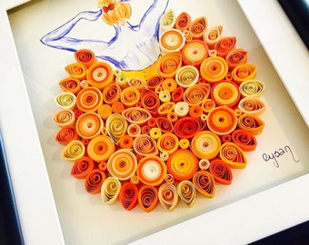 "Quilled paper art  ""Dancing with the sun!"""