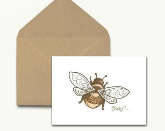 Busy? Note Cards – Boxed Set of 10 With Envelopes