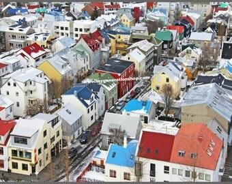 Icelandic Houses Poster