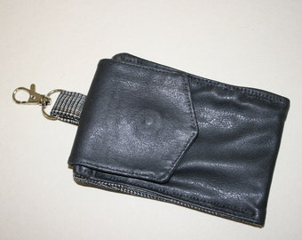 Vegan Leather Pouch,  Small pouch , Handmade  Pouch, Cotton Pouch, Vegan Leather  Purse