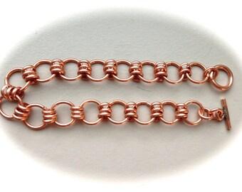 """Copper Link Bracelet 8.5"""""""