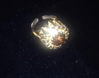 1960's Faux Topaz GoldTone Ring