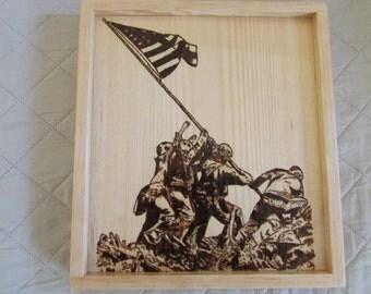 The raising of the flag on Iwo Jima