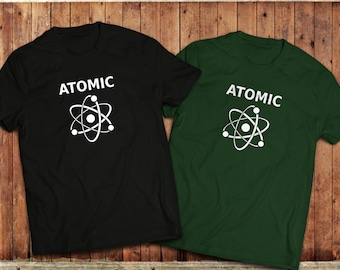 Atomic science T-Shirt, Geek or Nerd scientific Atom Tee