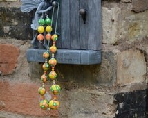 handmade polymer clay fruity set of necklace and earrings