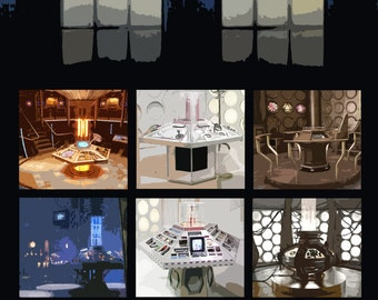 the TARDIS / Doctor who poster / TARDIS Console