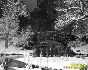 Central Park. Gapstow Bridge.