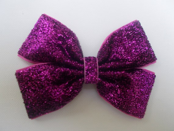 Violet Glitter Hairbow