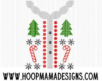Tacky Ugly Sweater Christmas SVG DXF eps and png Files for Cutting Machines Cameo or Cricut