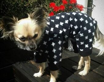 Dog Pyjamas, Dog Pajamas, Dog Onesie, Dog Clothes, Fleece