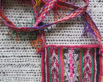 Peruvian / Boho / Alpaca/ Festival bag/ Chuspa / smart phone case