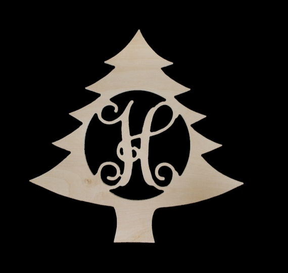 Unfinished Wooden Initial Christmas Tree | Monogram | Holiday Decor | Mantle | Festive Decor | DIY | 18 inch | Free Shipping