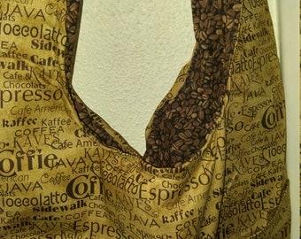 Coffee bean shoulder bag