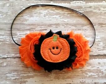 Pumpkin Halloween fall headband