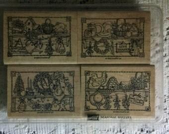 """Stampin' Up """"Seasonal Shelves"""" stamp set"""