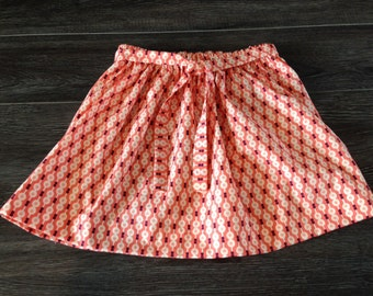 Tie Front Toddler Skirt Retro Dots