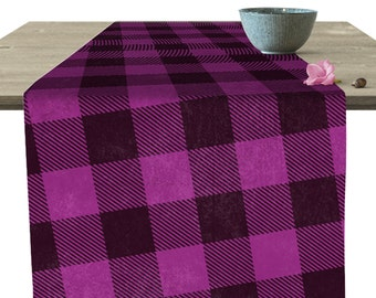 "Plaid Purple Table Runner 16x90"""