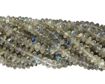 14 1/2 IN Strand 4-4.5 mm Labradorite Smooth Rondelle Gemstone Beads (LABRNL0005)