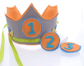 Waldorf inspired Birthday Crown with exchangeable numbers