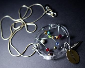 Dream Catcher Hand Blown Glass Necklace