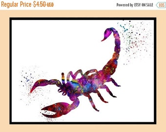 ON SALE 50% OFF Scorpion Print, Scorpion Print, Scoprion Poster, Scorpion Painting, Scorpion Wall Art, Zodiac Scorpio,Instant Download