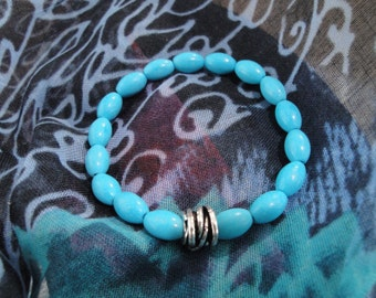 Stretch Magnesite bracelet.  Truth and Bliss