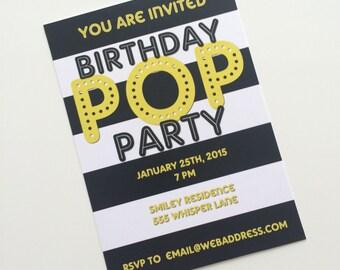 Birthday Pop Party Invitation