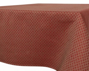Christmas Linen Tablecloth, Red, Grey linen table top, Linen table cover, Christmas Tablecloth
