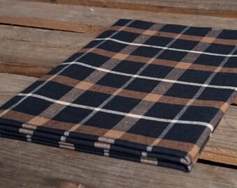 Linen Bed Sheet, Linen Bedding, Linen Flat Sheet, Linen Black, Brown Bed Sheet