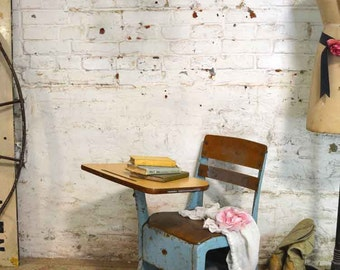 Painted Cottage Prairie Chic Chippy One of a Kind Farmhouse School Desk