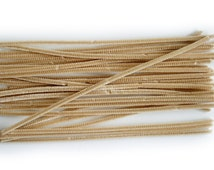 30 Pipe Cleaners for Crafts, Chose of colours, Beige, White, Black, Brown