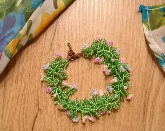 Forest fairy - Glass Bead Bracelet