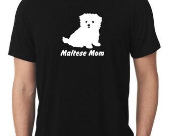 Maltese Mom T-Shirt puppy v2 T138