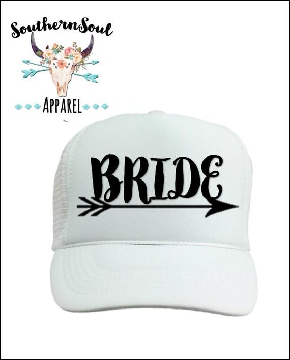 Bride Trucker Hat Bride Tribe Arrow // Baseball Cap // Summer Hat // Mesh Back Hat // Party Hat // Country Hat // Bachelorette Party