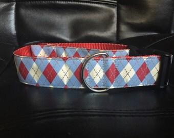 Blue Argyle Dog Collar