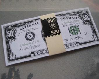 Batman Forever, Movie Prop Money 500 in 50.00 Bills - B2G1F