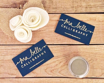 """Embossed Business Cards - Set of 25 or 50 Embossed Business Cards - 2"""" x 3 1/2"""""""