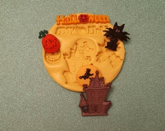 HALLOWEEN  Silicone Mold, gumpaste fondant cake decorating, chocolate, candy, polymer clay