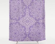 Purple Mandala Shower Curtain Lavender Violet Home Bath Room Shabby Chic Boho Bohemian India Indian Home Decor