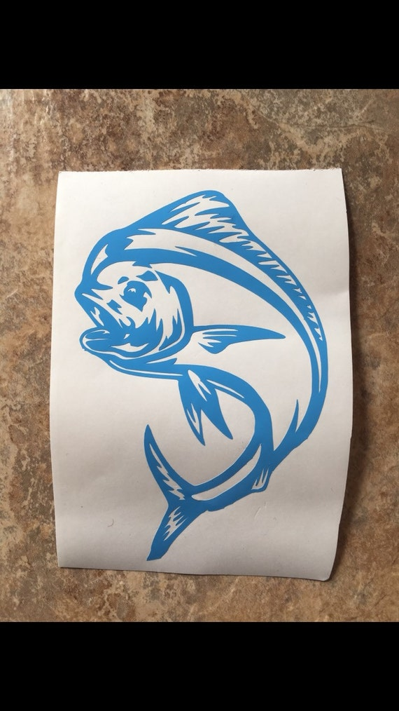 Fish decal fish yeti decal yeti decal decal for by for Fishing yeti decal