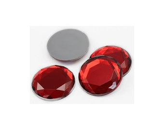 SALE 5mm Round Red Acrylic Jewels / Sew On / Glue On / 145 Count / Circle /Red/Acrylic/Jewels / Crafting / Nail Art / Arts and Crafts / Xmas