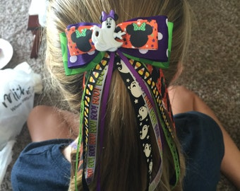 Mickey or Minnie Mouse Halloween Bow