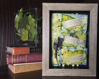 Shadowbox Art with Poetry,, Poetry Shadowbox Art