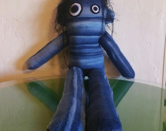Stuffed animal, Monster doll in blue. 38 inches!!!