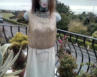 Ladies Vintage Sequin dress 1960's