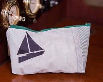 Recycled Sailcloth Makeup/Shaving Bag