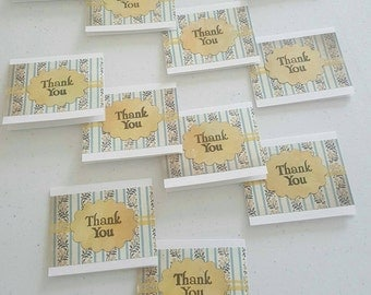 Mini thank you cards. 3 1/4 × 2 1/2 in. Package with 6 cards. Perfect for the holidays. Free shipping.