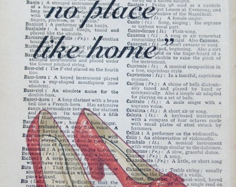 no place like home vintage print
